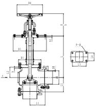 Криогенный запорный клапан угловой CCK T171DL125-250 PN10