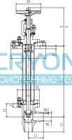 Криогенный запорный клапан угловой CCK T201DB32-40 PN16
