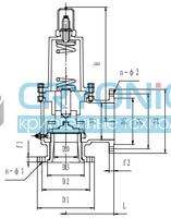 Предохранительный клапан тип T201DK32-100 PN16