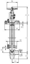 Криогенный запорный клапан угловой CCK T211DB50-100 PN16