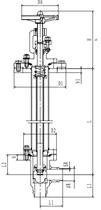 Криогенный запорный клапан угловой CCK T251DB25-40 PN25