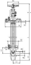 Криогенный запорный клапан угловой CCK T251DB80-100 PN25