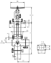 Криогенный запорный клапан угловой CCK T321DB65-80 PN40