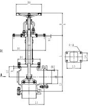 Криогенный запорный клапан угловой CCK T321DL150 PN40