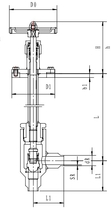 Криогенный запорный клапан угловой CCK T351DB10-15 PN64