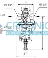 Комбинированный криогенный регулятор давления типа T368DE6