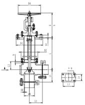 Криогенный запорный клапан угловой CCK T321DL25-50 PN40