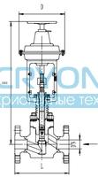 Запорный клапан типа T403QA25-65 с пневматическим приводом