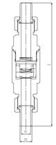 Криогенный обратный клапан T451DH10-25 PN160