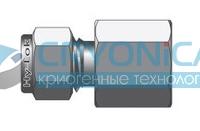 Фитинг прямой конфигурации штуцер с внутренней цилиндрической резьбой серии CGC