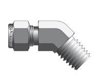 Фитинг угловой конфигурации 45° штуцер с наружной конической резьбой серии CLMB
