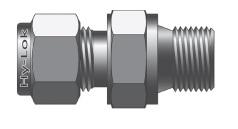 Фитинг прямой конфигурации штуцер с наружной цилиндрической резьбой серии CMC-M