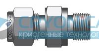 Фитинг прямой конфигурации штуцер с наружной цилиндрической резьбой под металлическую прокладку серии COM