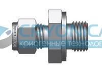 Фитинг прямой конфигурации штуцер с наружной конической резьбой и уплотнительным кольцом O-ring серии COP