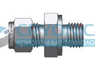 Фитинг прямой конфигурации штуцер с наружной цилиндрической резьбой и уплотнительным кольцом O-ring серии COS