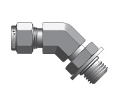 Фитинг угловой конфигурации 45° штуцер с наружной резьбой SAE/MS серии CSLB