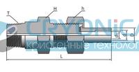 Переходник разборный с наружными резьбами и ниппелем под приварку серии H-SNLW