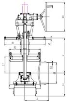 Криогенный запорный клапан угловой CCK T211DL350-500 PN16
