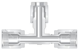 Фитинги высокой чистоты из перфторалкокси компактные тройники отвод - отвод