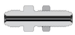 Фитинги с торцевым уплотнением VCR корпуса переходная муфта с наружной резьбой и монтажной гайкой