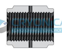 Фитинги с торцевым уплотнением VCR корпуса соединение с внутренней резьбой