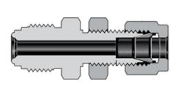 Фитинги с торцевым уплотнением VCR корпуса соединитель с трубным обжимным фитингом Swagelok с монтажной гайкой