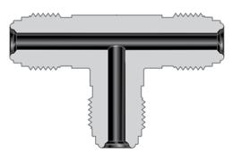Фитинги с торцевым уплотнением VCR соединители для большого расхода типа H корпуса проходной тройник