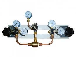 Щит автопереключения газовых рамп с сетевым редуктором (углекислый газ)