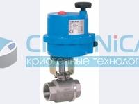 Шаровой кран с электроприводом 8E000 Серия INOX-VAL