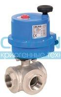 Шаровой кран с электроприводом 8E028(T) - 8E029(L) Серия COMBI - SFER