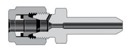 Переходники с трубным обжимным фитингом высокого давления и коническим патрубком