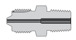 Соединители с наружной трубкой резьбовой и наружной резьбой высокого давления