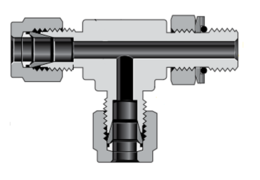 Тройники с наружной цилиндрической резьбой ISO/BSP поворотные, ввертные (серия TRT)
