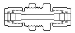 Фитинги из перфторалкокси муфты с монтажной гайкой