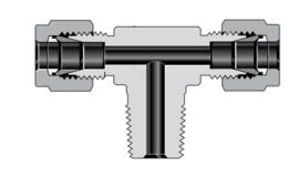 Тройники переходная муфта с наружной резьбой NPT, ввертные с отводом (серия TTM)
