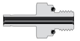 Трубные переходники с наружной цилиндрической резьбой  SAE/MS, с уплотнительным кольцом