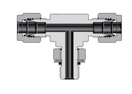 Тройники переходная муфта с наружной цилиндрической резьбой SAE/MS, поворотные, ввертные с отводом (серия TTS)