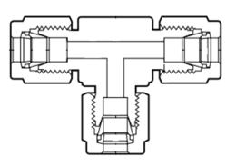 Фитинги из перфторалкокси проходные тройники