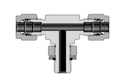 Тройники с наружной цилиндрической резьбой ISO/BSP, поворотные, ввертные с отводом (серия TTP)