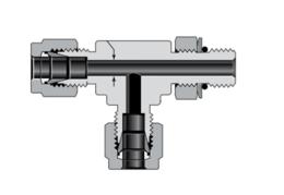 Тройники с наружной цилиндрической резьбой SAE/MS, поворотные, ввертные (серия TST)