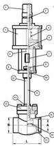Криогенный запорный клапан CAEN CRYO VCBS-750/NC