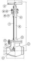 Криогенный запорный вентиль CAEN CRYO VCYS-800