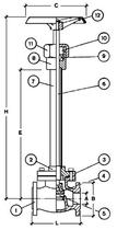Криогенный запорный вентиль CAEN CRYO VCB 1150