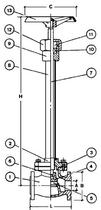 Криогенный запорный вентиль CAENCRYO VCB 1600