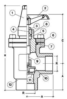 Запорный угловой клапан CAEN NTA-FT