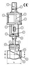 Запорный клапан CAEN VCBS-750-NC
