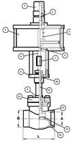 Запорный клапан CAEN VCBS-750-NCH
