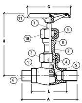 Запорный вентиль CAEN VCB 300, 300T