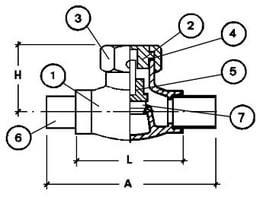 Обратный клапан CAEN VCR-200