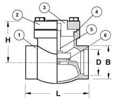 Криогенный обратный клапан CAEN VRSS-750